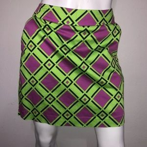 Loudmouth Ladies Golf Skort Purple and Green 6